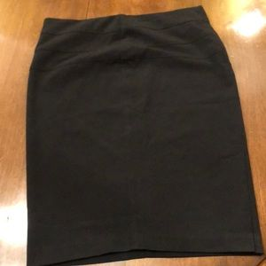 Candies black pencil skirt with small slit size 3
